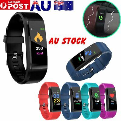 Fitness Tracker Heart Rate Monitor Sport Bracelet Pedometer Smart Watch S4