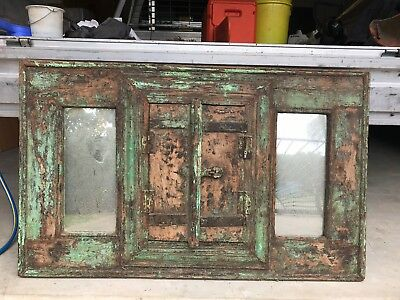 Antique Unique Indian Window Wall Mirror