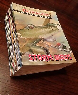 Commando comics job lot of 24 , 75p issues. Complete run.