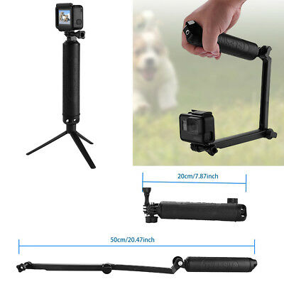 Multi-function Selfie Stick Floating Hand Grip 3-Way Bracket For GoPro Hero 6 5