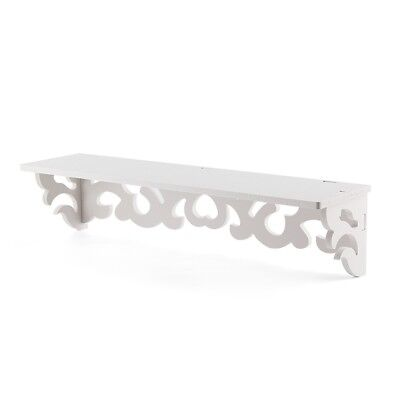 3X(Set of 2 White Shabby Chic Filigree Style Shelves Cut Out Design Wall S H3P4)