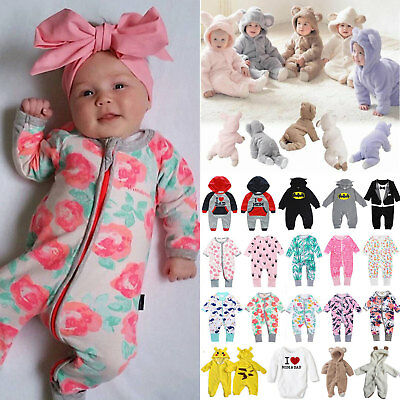 Baby Toddler Girls Long Sleeve Romper Bodysuit Jumpsuit Clothes Outfits Newborn