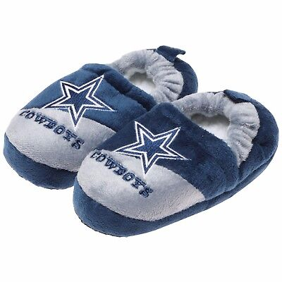 Dallas Cowboys NFL Youth Boys' Colorblock Slide Slippers, Size Large 11-12,  NWT