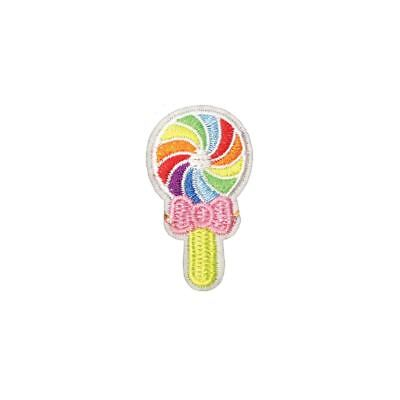 Rainbow Lollipop Candy (Iron On) Embroidery Applique Patch Sew Iron Badge