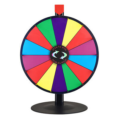 """Winspin 18"""" Tabletop Prize Wheel Carnival Party Mall Children Fun Game INCD VAT"""