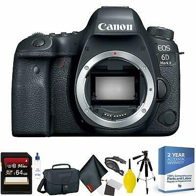 Canon EOS 6D Mark II DSLR Camera Body Only + 64GB Memory Card Bundle070