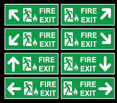 FIRE EXIT Signs Stickers VINYL Self Adhesive Stickers-300 X 100(L1009)