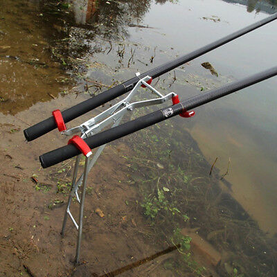 Adjustable Double Pole Bracket Fishing Rod Holder·Rest Stainless Fish Tackle S+