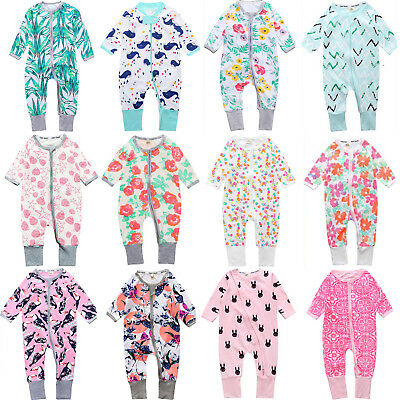 Newborn Kids Baby Boy Girl Romper Bodysuit Jumpsuit Floral Clothes Outfit Set UK