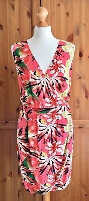 e6680f2e40 Other Stories Orange Multi Tropical Print Wrap Front Tulip Summer Dress 12  38