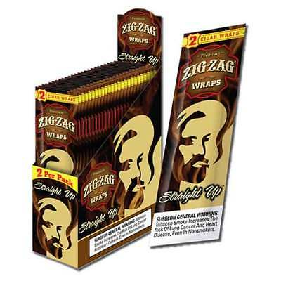 Zig Zag Wraps Straight Up Box of 25 Packs - 2 Per Pack Free Shipping