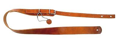 Buckle Guitar Strap Genuine Leather Handmade USA Vintage Rock Goth Brown Oiled