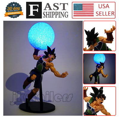 12'' Anime Dragon Ball Zero Son Goku Father Saiyan Bardock Figure DIY LED Lamp