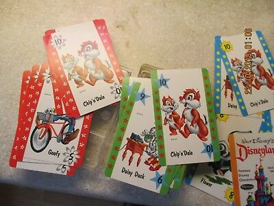 Whitman 1964 Walt Disney's Disneyland Card Game Complete In Plastic Case