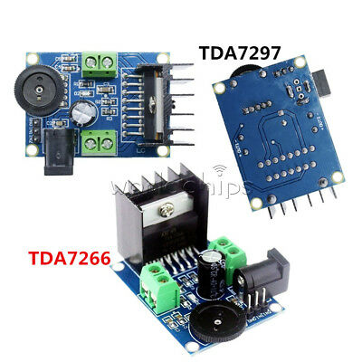DC 3/6V to 18V TDA7297 TDA7266 Power Amplifier Module 5-15W Double Channel