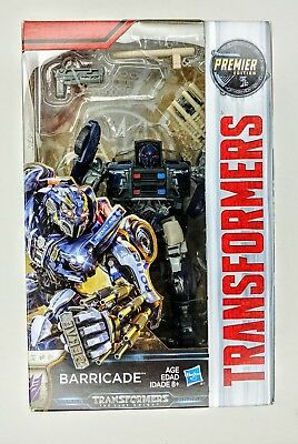 NIB Transformers: The Last Knight Premier Edition Deluxe Barricade Action Figure