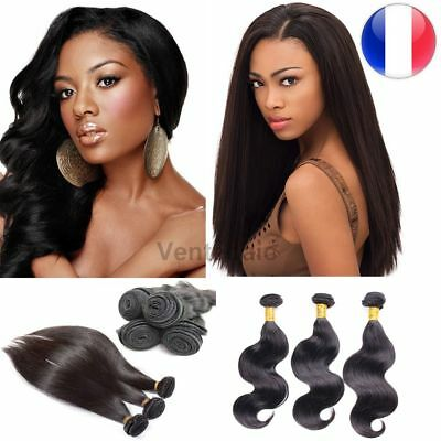 Tissage Bresilien 100% Naturel Extension Cheveux Virgin Remy Hair Humain 100G 5A
