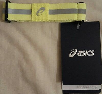 Asics Running Liteshow Safety Sports Reflective Arm Leg Band Strap -Small-Yellow