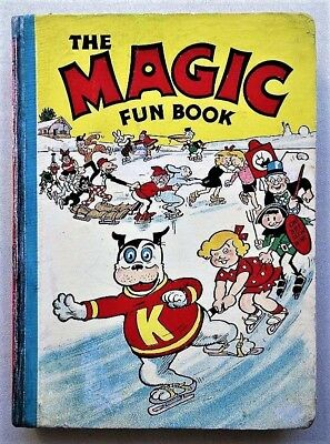 THE MAGIC FUN BOOK 1941 # 1 Comic first Annual (published 1940) Very Rare beano