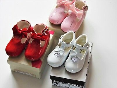 Baby Girl Hard Soled Spanish Shoes With Buckle Fastening