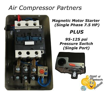 2pcs/set Motor Starter Single Phase 7.5HP and Pressure switch for Air Compressor