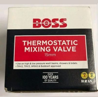 BOSS BOSSMIX 15 MM TMV3 THERMOSTATIC MIXING VALVE  15mm