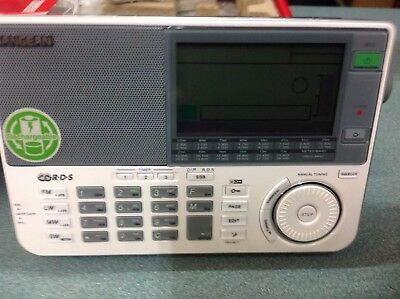 Sangean ATS-909X Portable  communications receiver in white complete in box