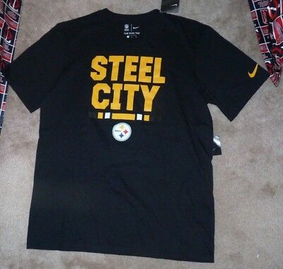 9ac185aa686 NEW NIKE NFL Pittsburgh Steelers Football - Steel City T Shirt Men L Large  NWT