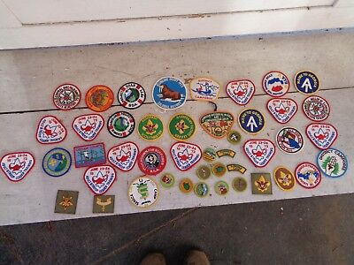 Vintage Lot Of Boy Scouts Of America Patch Bsa Patches Troop Rank Camp