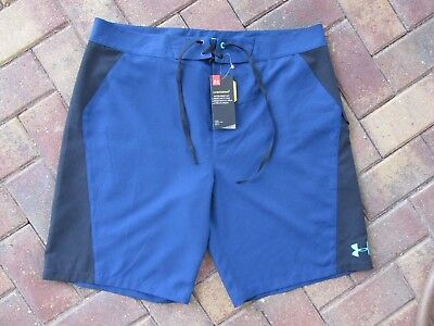 ee8c3dfcfe UNDER ARMOUR MENS swim board shorts trunks swimming suit NWT Blue sz ...