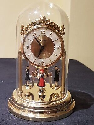 Beautiful Ranela Small German Wind Up Clock with Plastic Dome Working