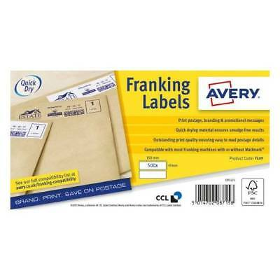 Avery FL-17 Franking Labels 500 quantity. Boxed. New. RRP £32. Buy £14