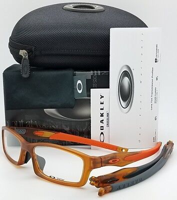 NEW Oakley Crosslink RX Asian FT Frame Rootbeer Orng OX8029-0356 Brown 56mm 8029