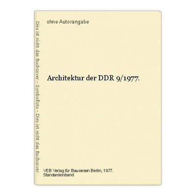 Architektur der DDR 9/1977.
