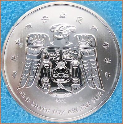 1 oz .999 Silver CANADA COIN 2009 OLYMPIC VANCOUVER 2010 Art Round 2124