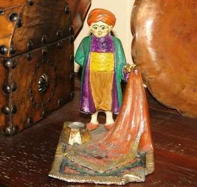 Vintage Incense Burner Advertising Persian Rug Cleaning Co. Cast Iron
