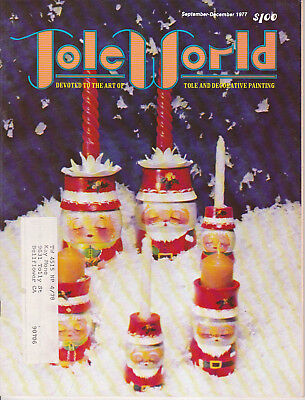 TOLE WORLD MAGAZINE - Sept-Dec 1977 - Very Good - Tole and Decorative Painting
