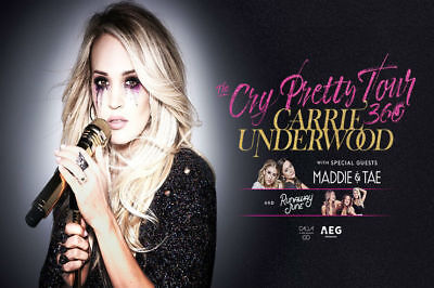 Carrie Underwood Cry Pretty Tour Tickets GA Floor (2) - Pinnacle Bank Arena