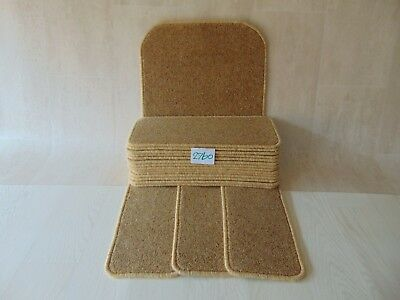 15 Carpet Stair pads / treads 50cm x 20cm and a Mat at 76cm x 46 cm #2760-7