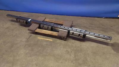 "THK 88.5"" Long CNC Automation Linear Guide Rail / Slider with 3 Bearing Blocks"