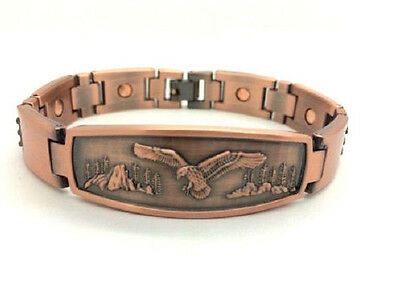 Arthritis Magnetic Copper Bracelet With Eagle On The Front ~8.25 Inch  5364