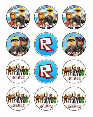 24 X Roblox Cupcake Toppers Edible Wafer Or Icing 1 5