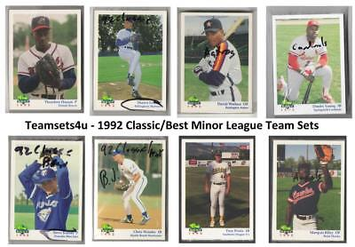 1992 Classic Best Minor League Baseball Set ** Pick Your Team ** See Checklist