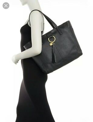 NWT  398 Cole Haan Large Fantine Black Pebble Leather Shoulder Bag Business  Tote 8ff5443c77b67