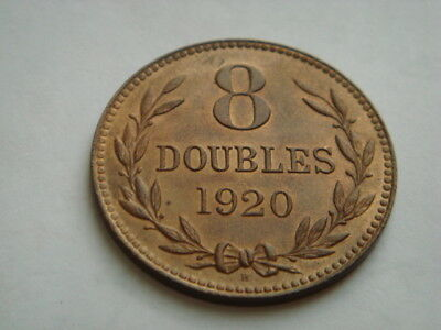1920 GUERNSEY 8 Doubles in XF+ Condition.