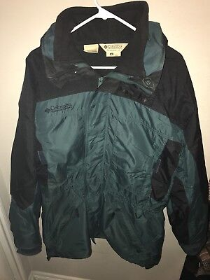 5156bddeebf Men's Columbia Green/Black West Ridge Jacket With Liner And Hood Sz Large