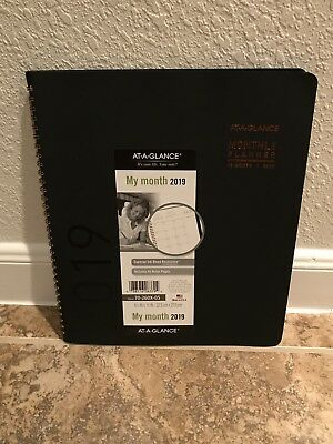 At-A-Glance 2019 Calendar Planner Monthly New Year Rose Gold Black 70-260X-05