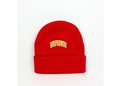 2c1fadc901a SUPREME CROWN LOGO beanie hat Orange O S FW18 In ✋ 100% Authentic ...