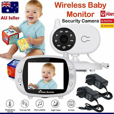 "3.5"" LCD Baby Pet Monitor Wireless Digital 2 Ways Audio Video Camera Security AU"