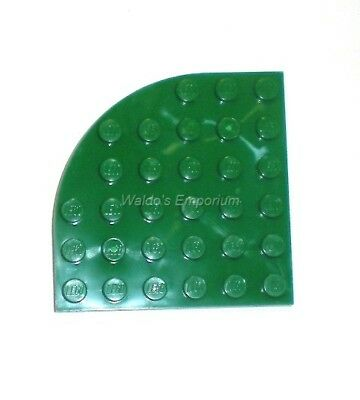 Flat 6x6 Round Corner NEW NEW green green 4 x LEGO 6003 Plate Coin Rounding
